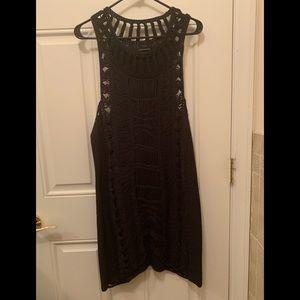 All Saints Spitafield Crotchet black dress